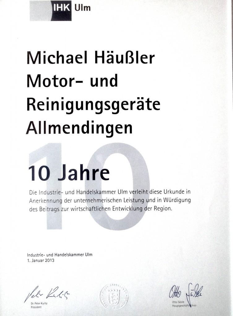 10 Jahre Häußler Dampfstaubsauger und Automower