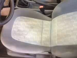 Autositz nach der Reinigung